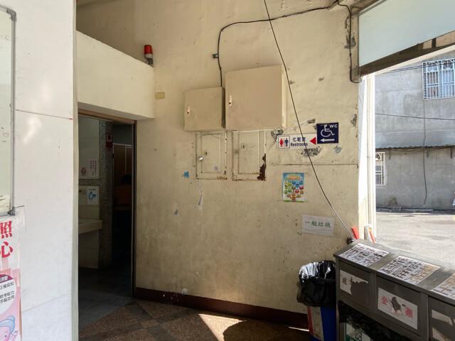 大渓バスターミナルのトイレ