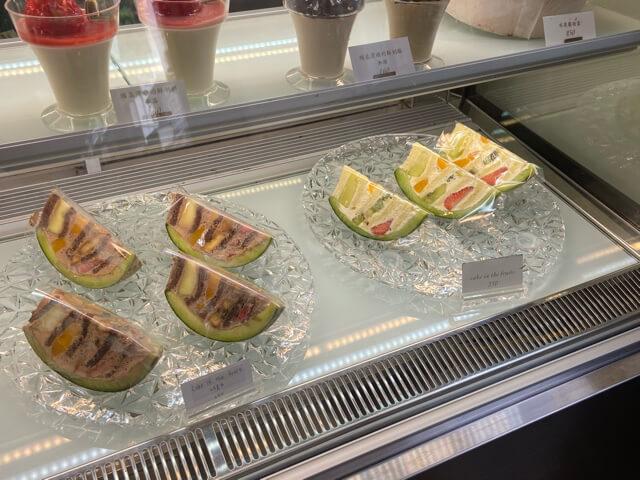 台北カフェla vie bonbonメロンケーキ